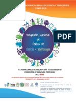 Formularios Programa Nacional Ferias CYT 2013 Vf