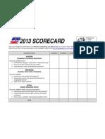 MGG 2013 Scorecard - English