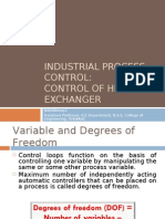 Instrumentation and Control of Heat Exchanger