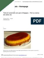 Torta di caramello con pan di Spagna – Tort cu crema de zahar ars _