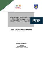 Pre Event Information Kejurnas TIME RALLY 2013 Jateng