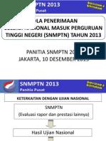 Pola Penerimaan SNMPTN 2013