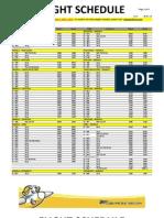 Domestic Flight Schedule