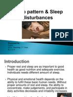 Sleep Pattern & Sleep Disturbances-Revised