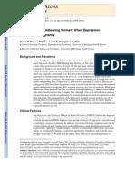 Depression in Childbearing Women When Depression Complicates Pregnancy
