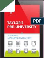 Taylor's Pre-U Flyer 2013