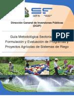Guia Metodologica Sectorial Agroforestal Riego