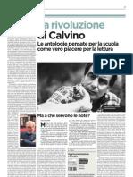 La rivoluzione di Calvino, le antologie scolastiche come piacere per la lettura - L'Unità 11.04.2013