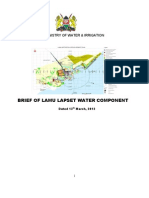 Brief of Lamu Lapset Water Component 14th March 2012