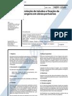 NBR 12589 - 1992 - Proteção de taludes e fixação de margens em obras portuárias