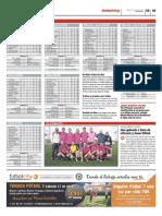 Publicación de las clasificaciones de las ligas Futbolcity en Superdeporte. Miércoles 10 de abril 2013