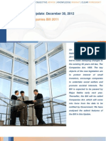 Analysis of Companies Bill 2011