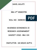 Economics Sahil