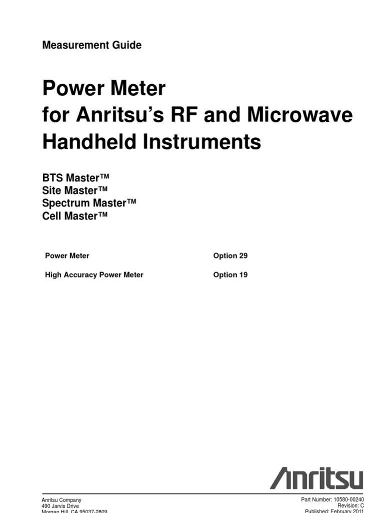 Power Meter Measurement Guide-10580-00240C | Electrostatic Discharge |  Frequency