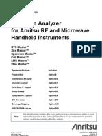 Spectrum Analyzer Measurement Guide-10580-00244E