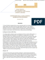 Costituzione Conciliare Sulla Sacra Liturgia - Sacrosanctum Concilium