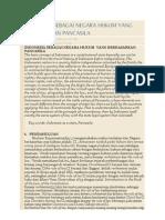Indonesia Sebagai Negara Hukum Yang Berdasarkan Pancasila
