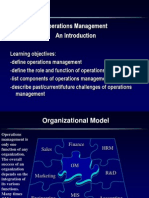 Introduction Operational Management