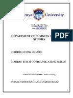 UCU 001 Communication Skills