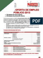 RÁCANA OFERTA DE EMPLEO PÚBLICO 2013