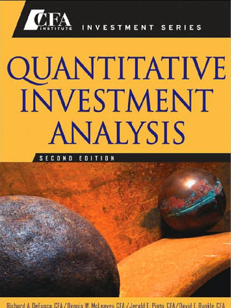 quantitative investment analysis defusco pdf
