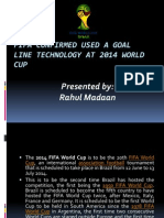FIFA Confirmed Used a Goal Line Technology At