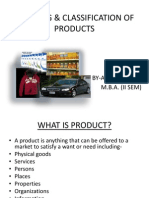 Meaning & Classification of Products