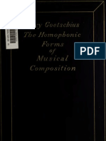 The Homophonic Forms of Musical Composition - Percy Goetschius