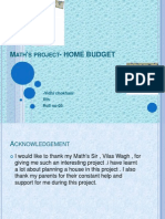 Maths Project on Home Budget
