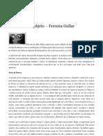 Teoria do não-objeto – Ferreira Gullar