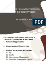 How to Create Favorable Impression During the Selection Process