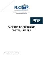 Caderno de Exercicios Contab II