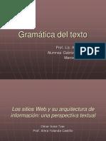 Gramática del texto-arquitectura de informacion web