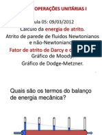 Hidrodinâmica - Factor de Atrito ppt