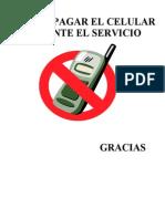 Favor Apagar El Celular