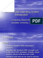 (Lecture 1) Windows 2000 OS Introduction