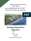 Training Material for Operators