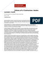 The Contradictions of a Contrarian Andre Gunder Frank by Jeff Sommers