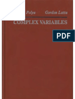 36537555 Complex Variables George Polya Gordon Latta