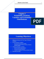 Chapter 2 Probability, Random Variables and Probability Distributions (1)