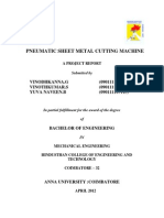Pneumatic Sheet Metal Cutting Machine