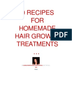 20 Recipes for Homemade Hair Growth Treatments