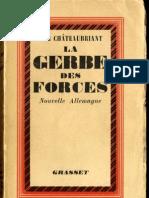 Alphonse de Chateaubriant La Gerbe Des Forces