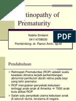 referat Retinopathy of Prematurity - Nabila Sindami