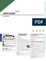 Denon AVR-2112ci Eng manual