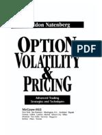 Sheldon Natenberg Option Pricing and Volatility Mcgraw-Hill 1994