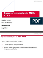 Operator Strategies in M2M - AT&T