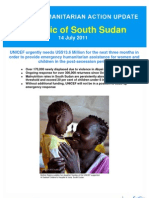 UNICEF Humanitarian Action Update the Republic of South Sudan 14 July 2011
