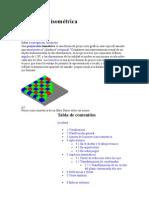 royección isométrica