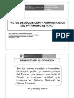 ACTOS DE ADQUISICIÓN Y ADMINISTRACION